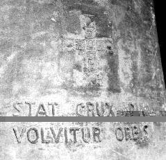 Detailansicht der Kreuzglocke - Glocke 1