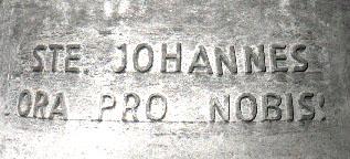 Detailansicht der Johannesglocke - Glocke 4