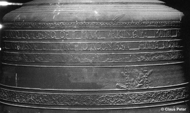 Detailansicht der Marienglocke - Glocke I